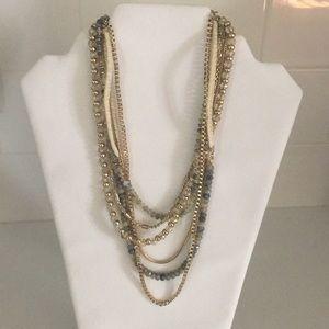 White House, black market statement necklace.